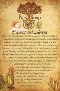 椰子和芦荟皂条