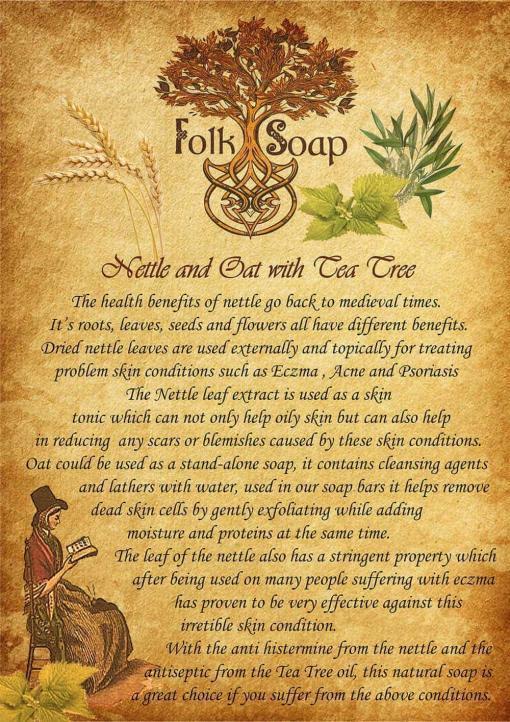 nettle and oat healing soap bar