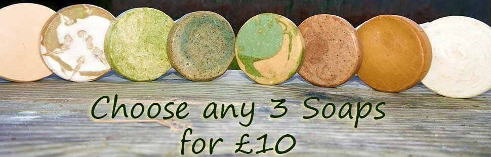 Save £2.45 on our 3 soaps for £10 offer