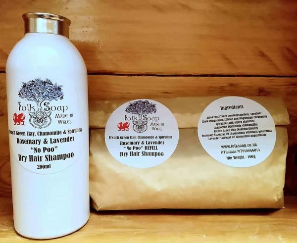 Sustainable Refill Container and bag Fair Hair Dry Shampoo