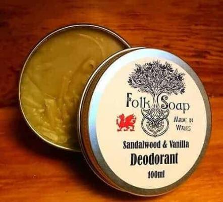 Natural Sandalwood and Vanilla Deodorant
