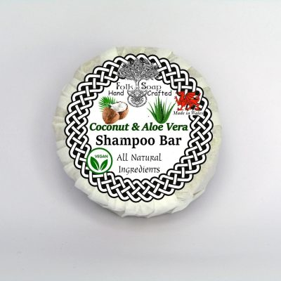 Folk Soap Coconut and Aloe Vera Moisturising Solid Vegan Shampoo Bar