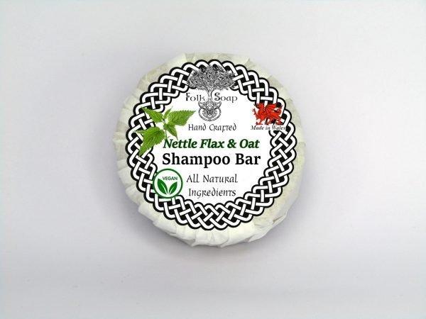 Folk Soap Nettle Flax and Oat shampoo bar