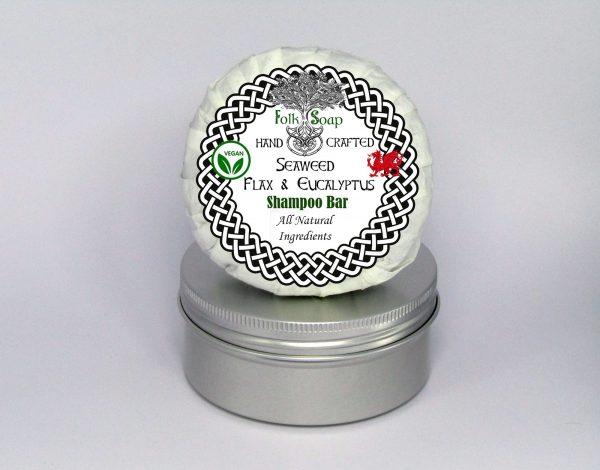 Folk Soap Seaweed and Eucalyptus shampoo bar