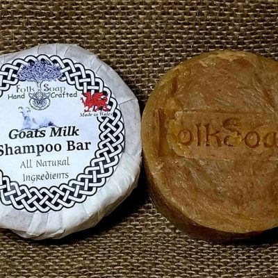 Goats milk solid shampoo bar, gentle unscented scalp care soap
