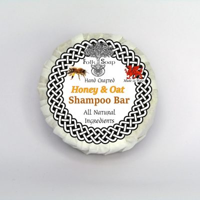 Folk Soap Solid Shampoo Bar with Honey, Oats & Chamomile