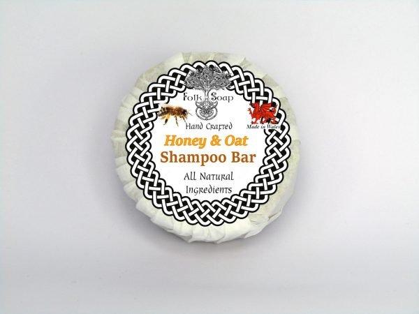 Folk Soap Solid Shampoo Bar with Honey, Oats & Chamomile
