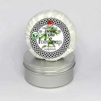 Folk Soap Hemp and Oat Soap Bar in Travel Tin