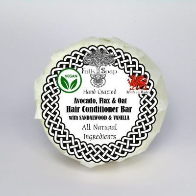 Folk Soap Vegan Conditioner Bar with Sandalwood andVanilla